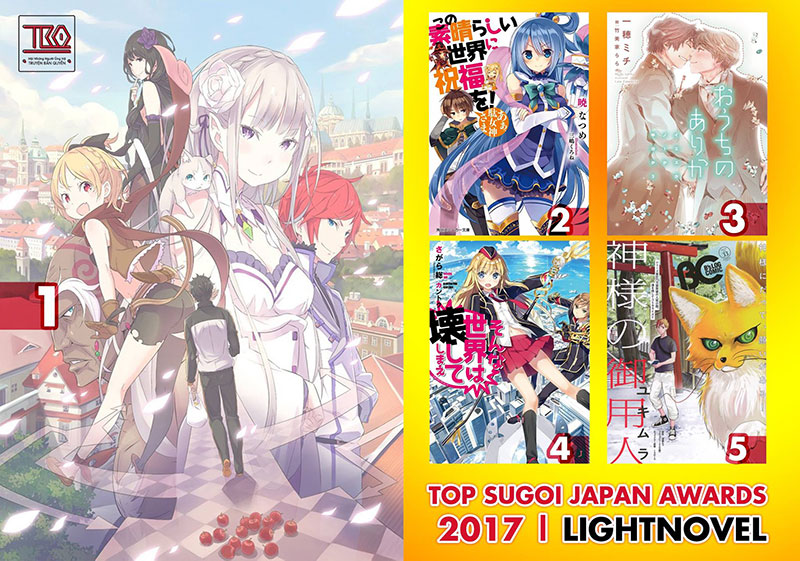 【SUGOI JAPAN AWARD】TOP 5 LIGHTNOVEL SERIES IN 2017