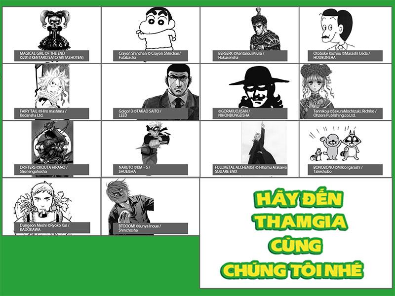Có gì HOT tại【MANGA FESTIVAL IN VIETNAM】lần đầu tổ chức ở Việt Nam (0)