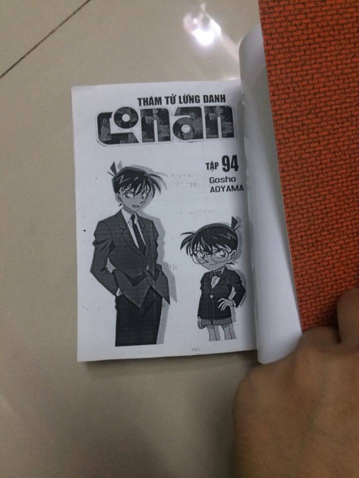 【CẢNH BÁO】【THÁM TỬ LỪNG DANH CONAN】Tập 94 bị in lậu và rao bán trên Facebook