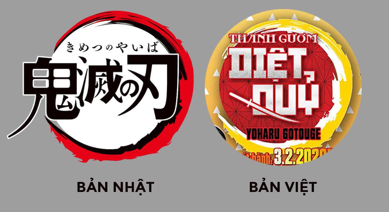 【CHUYÊN ĐỀ TBQ】Vì sao Logo [Thanh Gươm Diệt Quỷ] phiên bản Việt lại không đẹp!